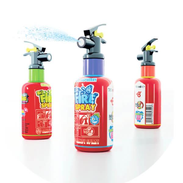 Big fire spray