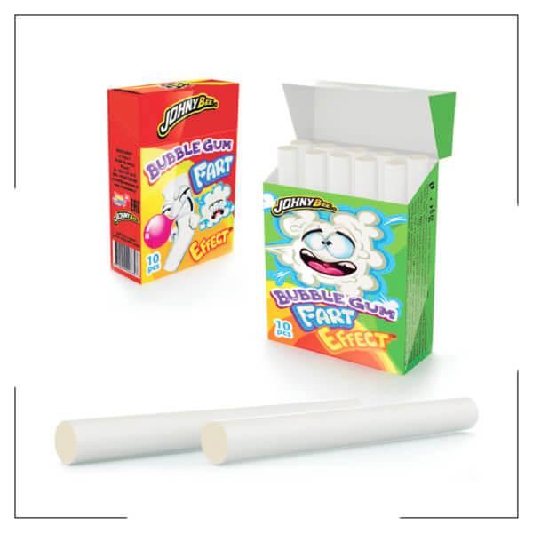 Bubble gum + fart effect