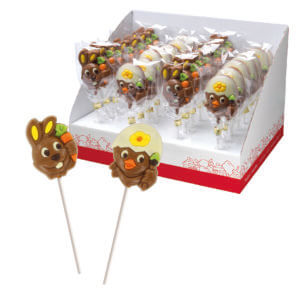 Sucette animaux chocolat